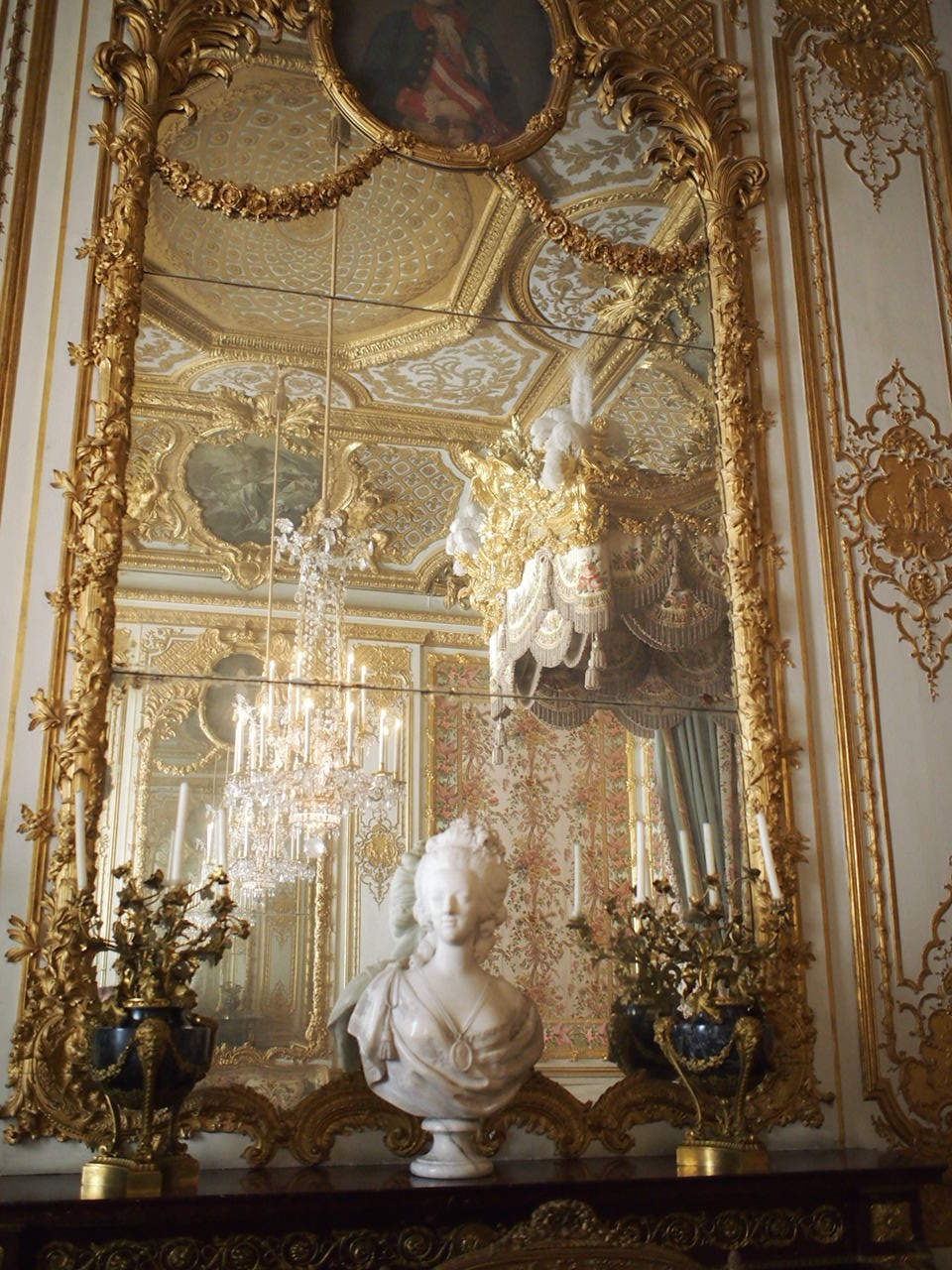 inside the palace of Versailles