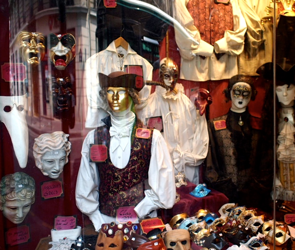Anyone needing a costume for a masked ball? Saint-Germain-des-Prés