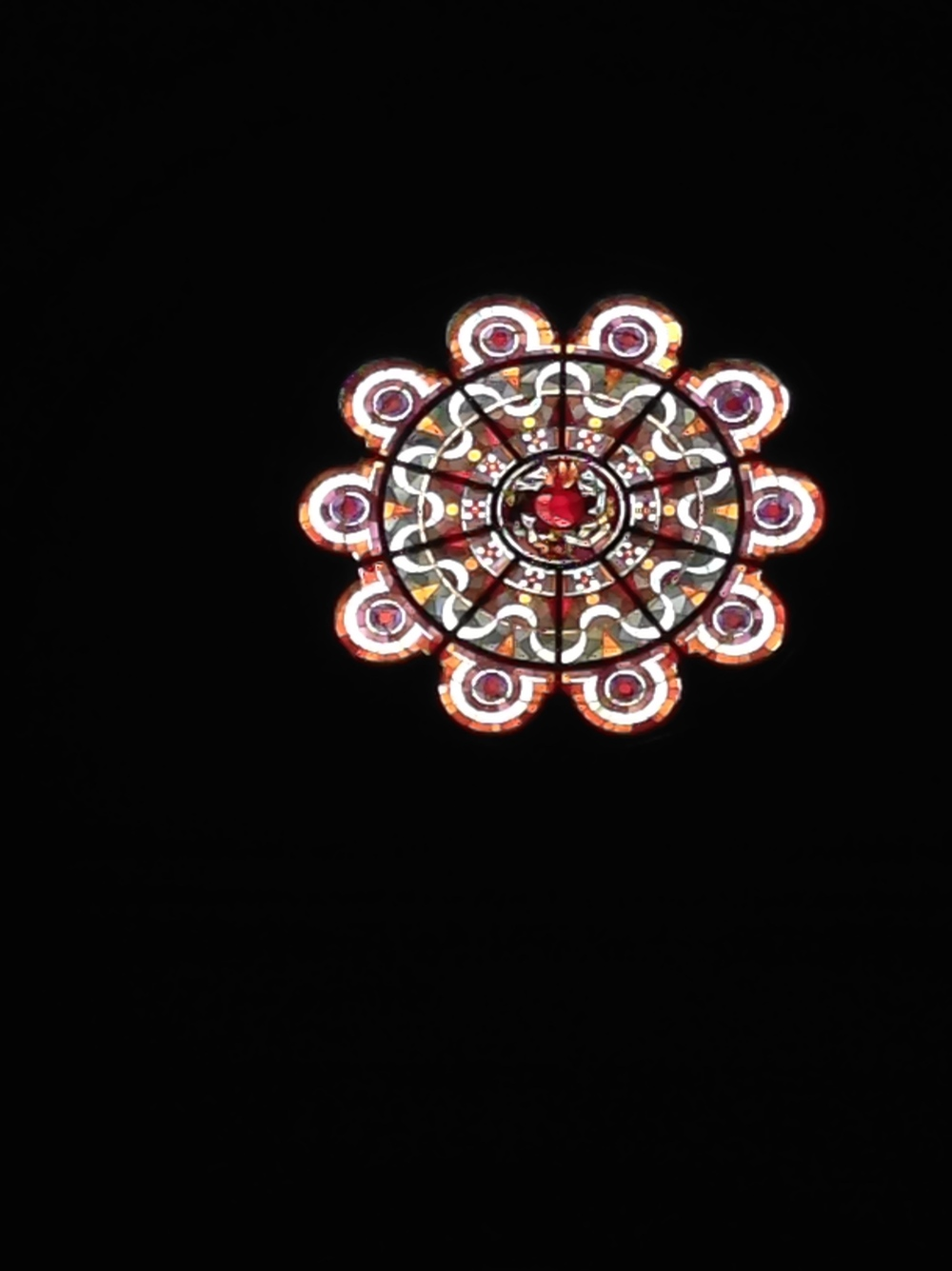 Stained glass rosette, Sacré Coeur