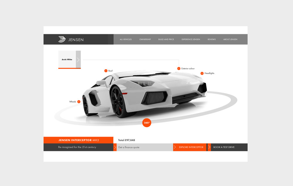 car website design and branding