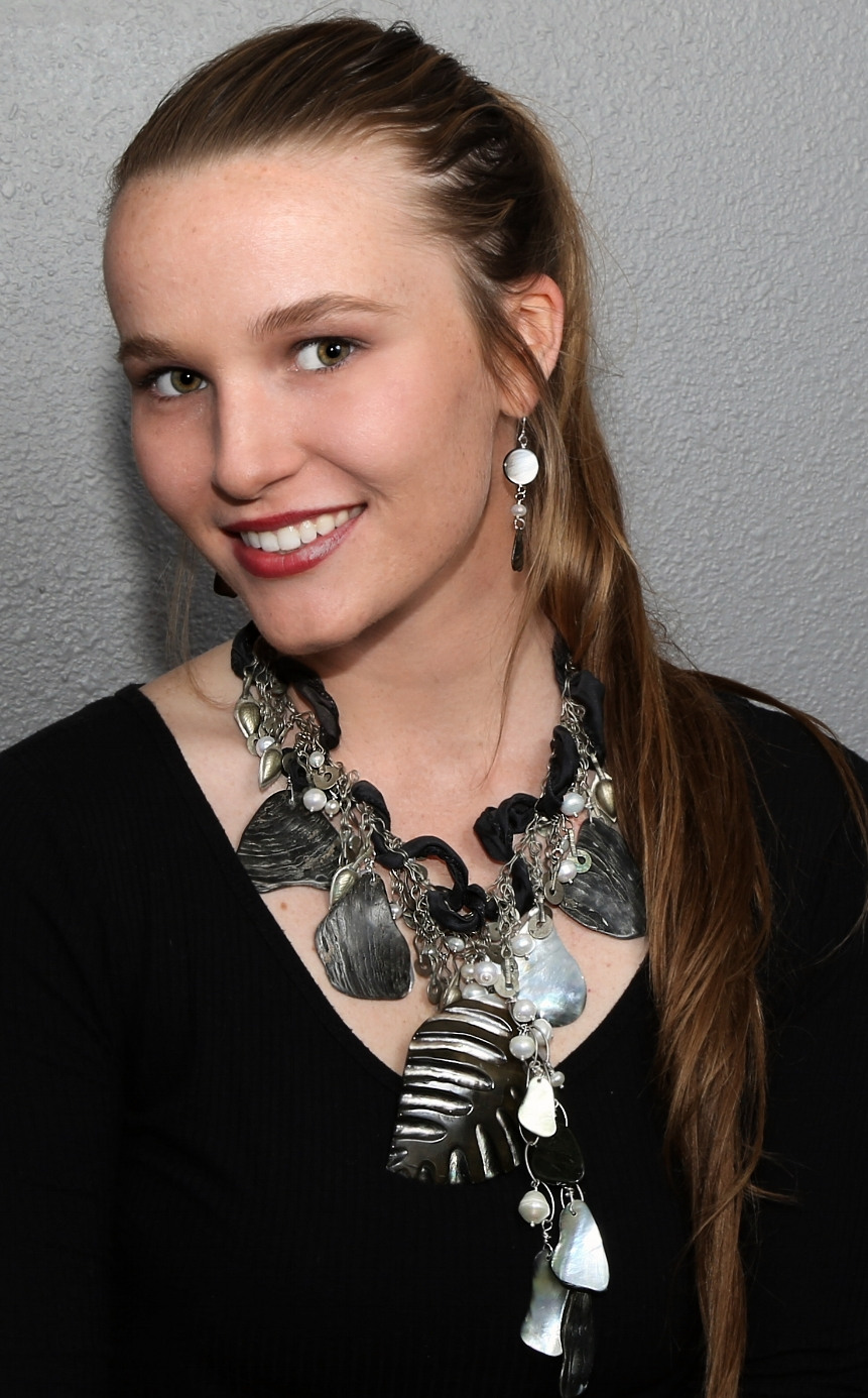 carved abalone, abalone, and freshwater pearls. (modeling Burgen Schwartz - photography Michael Scholl with ImagExcitement