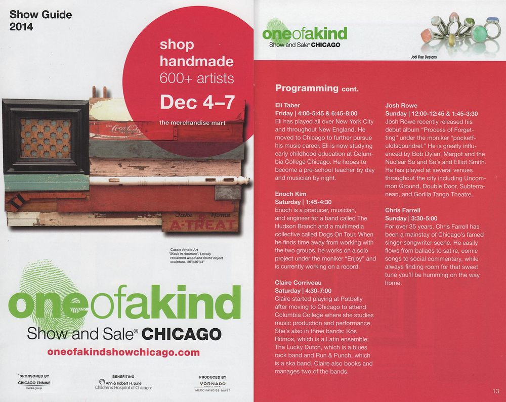 One of a Kind Show and Sale Brochure, 2014