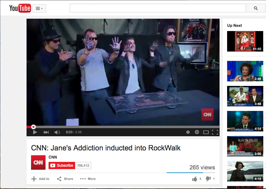 Janes Addiction Induction to Rock Walk, 2011, Los Angeles.  Perry Ferrell wore a Jodi Rae Blue goldstone Necklace.