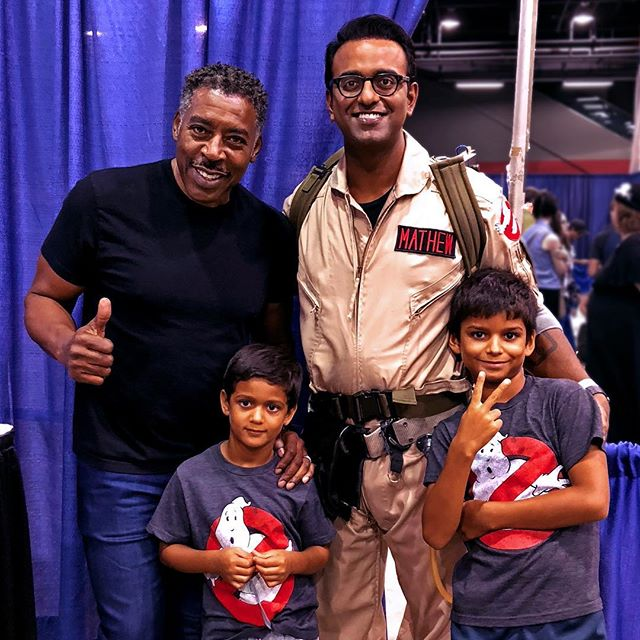 Finally got to meet a real Ghostbuster, Ernie Hudson! #ghostbusters #wizardworld #wizardworldchicago