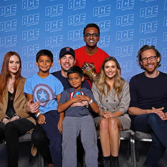 Spending my Saturday with superheroes. Typical weekend. #acecomiccon