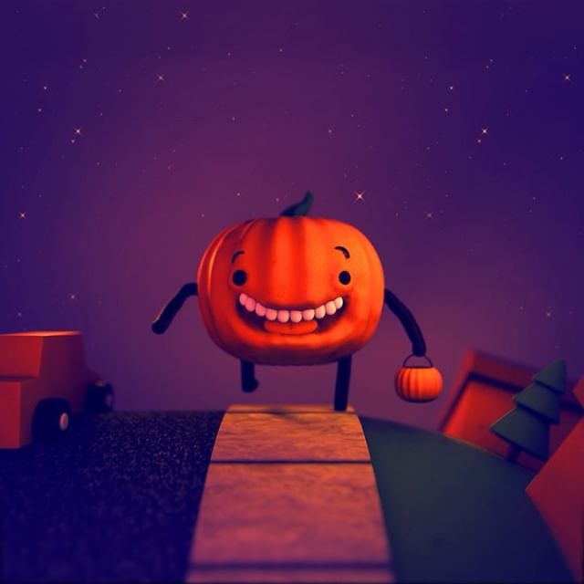 HAPPY HALLOWEEN!!! 🎃  ________________________________________________________ #halloween #pumpkin #animation #characteranimation #happyhalloween #jackolantern #c4d #cinema4d #redshift #mograph #loop @motiongraphics_collective @motiongraphics_p @motionlovers #trickirtreat