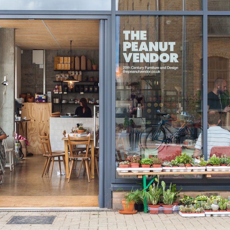 THE PEANUT VENDOR / LONDON 20th century furniture, design and lifestyle store just over the canal from Victoria Park in East London, with a coffee bar featuring a selection of coffees from top European roasters