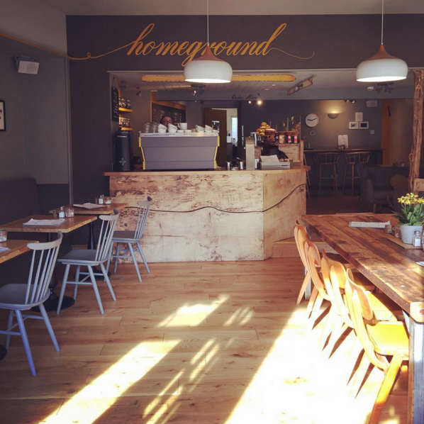 HOMEGROUND / WINDERMERE Speciality coffee shop set in the beautiful Lake District, serving brunch, lunch, cakes and speciality coffee in a bright, Antipodean-inspired space