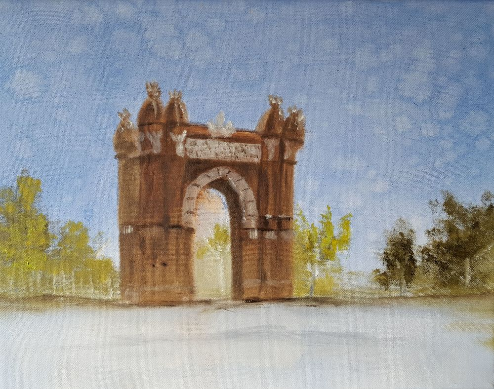 Painting of Spain photograph
