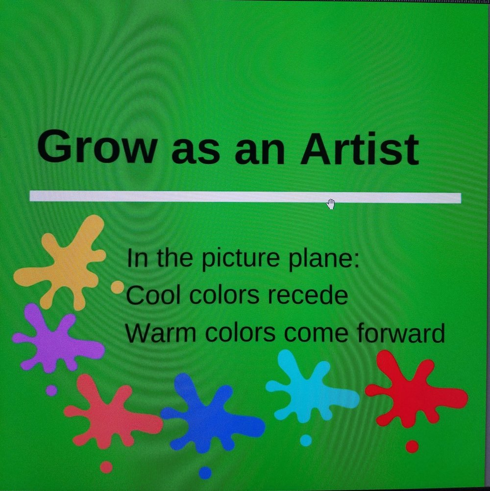 Grow as an artist warm and cool colors