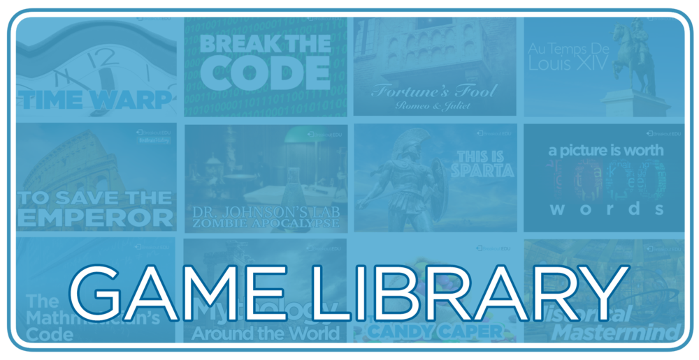 Explore and play the 100s of games designed for the Breakout EDU platform.