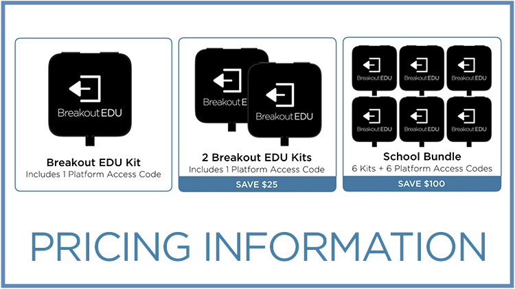 Explore the various options for purchasing the Breakout EDU kits and Platform Access.