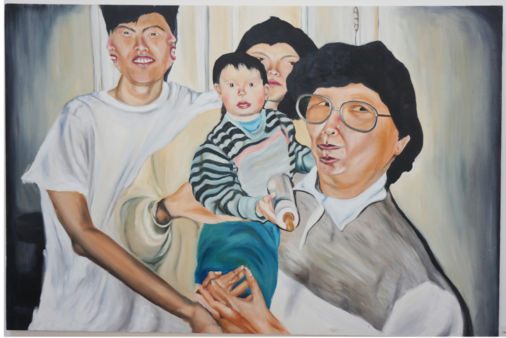 "Robin Birdd - ""Babies making babies series: Family Portrait"""