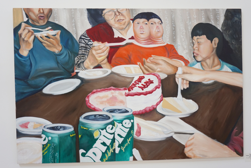 "Robin Birdd - ""Babies making babies series: Birthday Cake"""