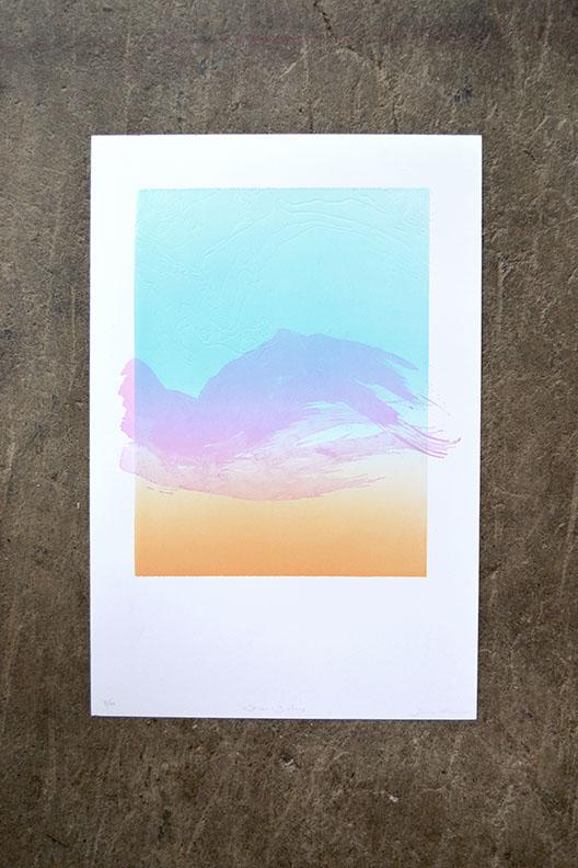Bolinas & Stinson Topographical Print