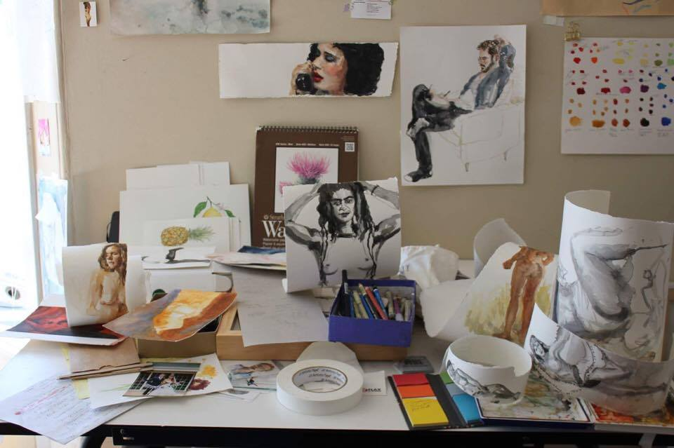 Christine Aria's desk | Image courtesy Vanessa Wilson