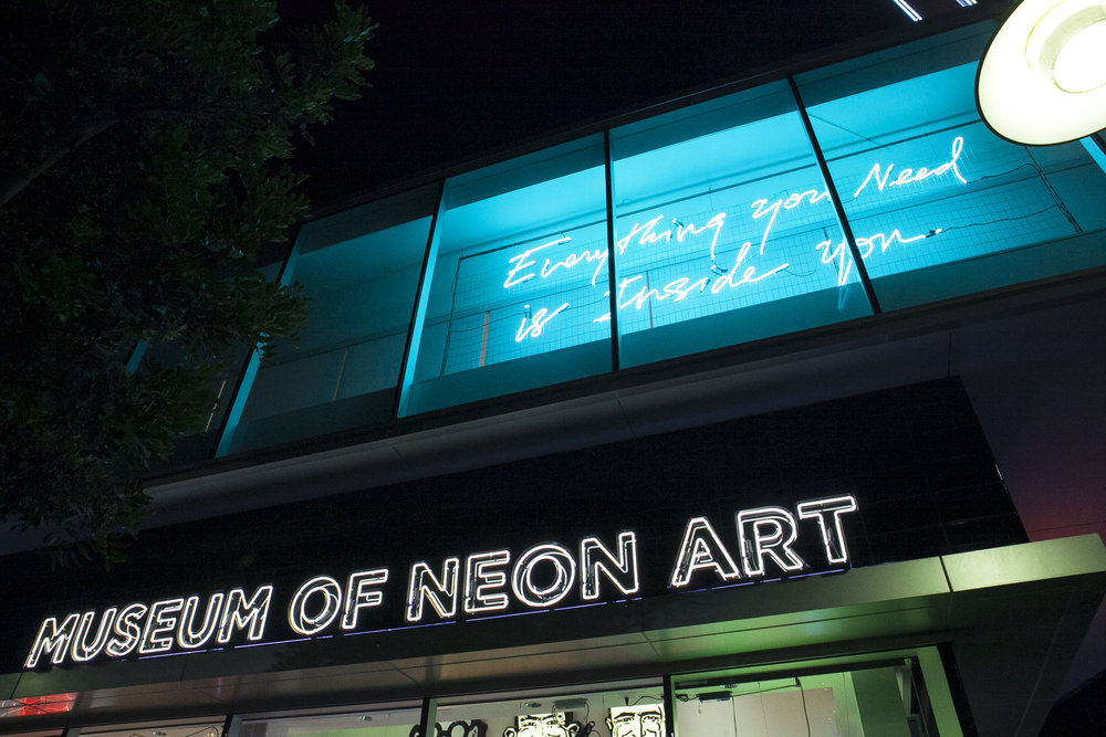 Museum of Neon Art in Glendale, CA featuring the work of Olivia Steele