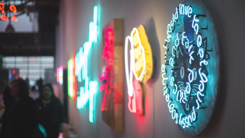 neon happy hour