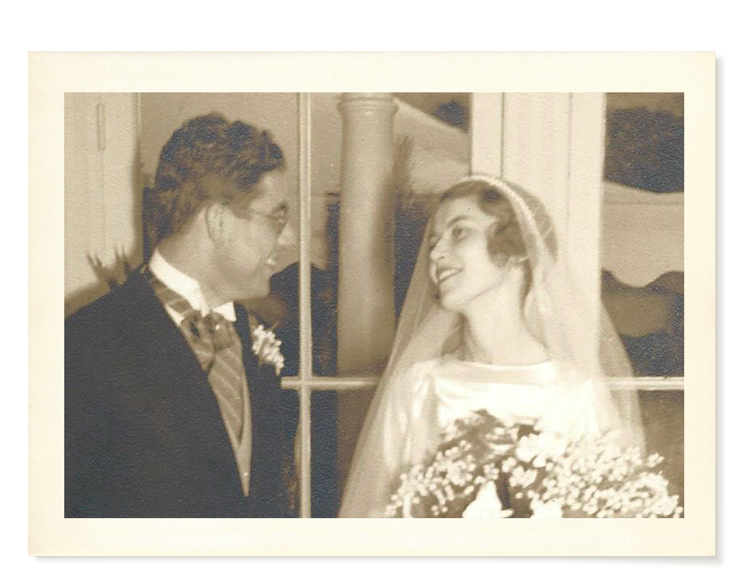 My father and mother on their wedding day