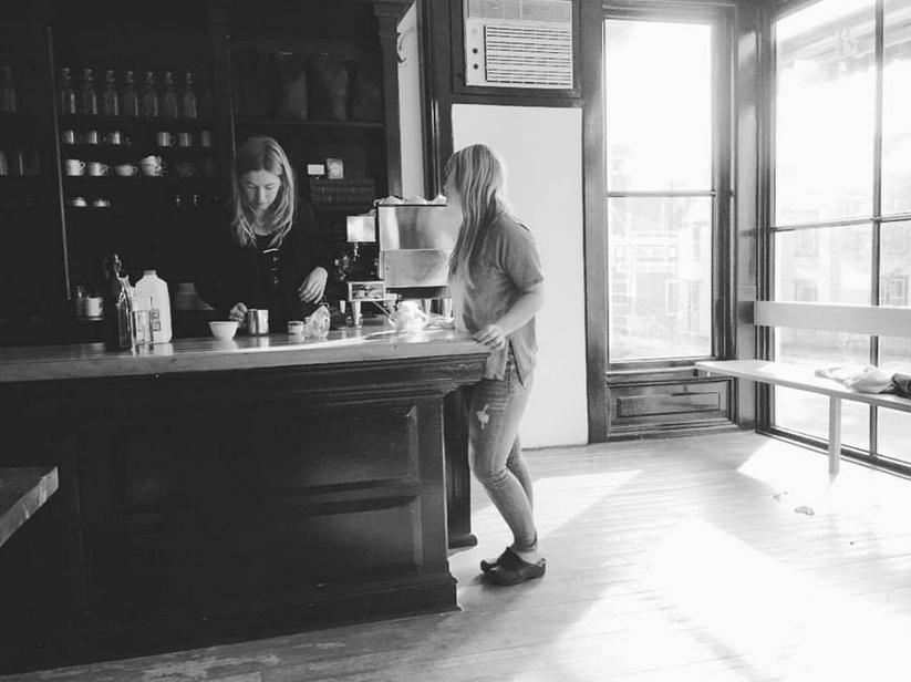Morning lattes with Sarah at her and Sohail's wonderful restaurant Brushland Eating House.