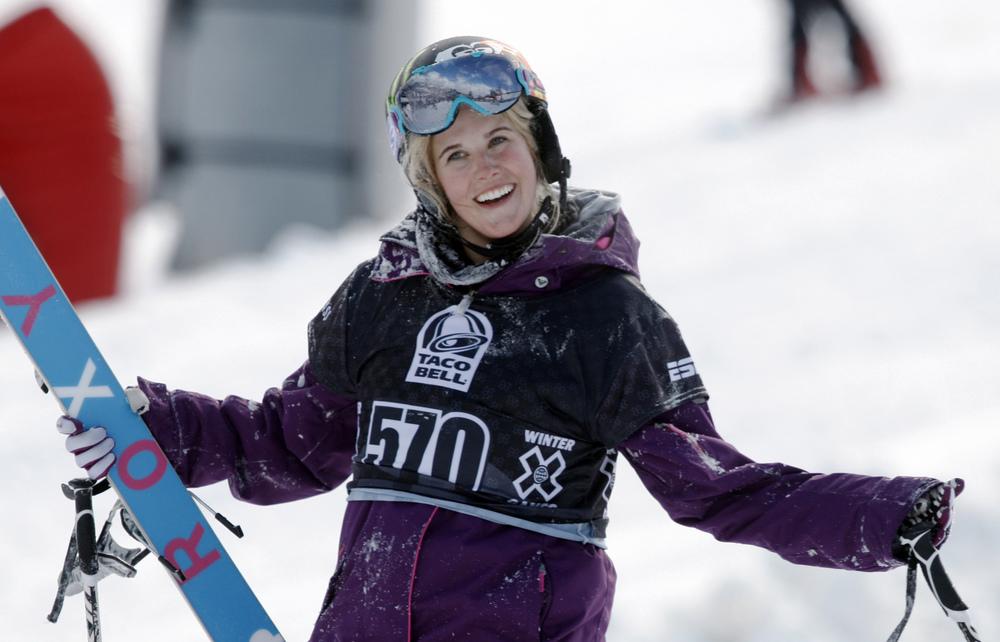 Skiing pioneer, Sarah Burke.