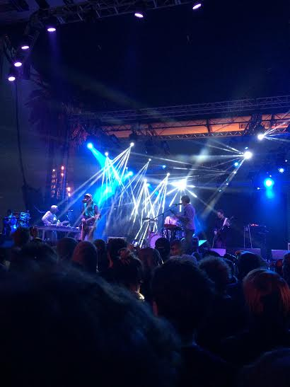 """""""Deerhunter"""" plays for a packed audience on the Tunnel Stage (photo by Harrison Laver)"""