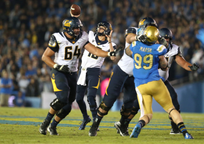 Jared Goff fell 37-10 to the Bruins during his freshman trip to the Rose Bowl in 2013. (photo by Stephen Dunn)