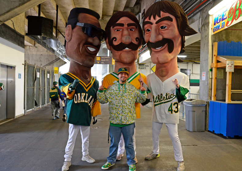 Spirits were high at the Coliseum for 2016 A's FanFest (photo by Jose Carlos Fajardo)