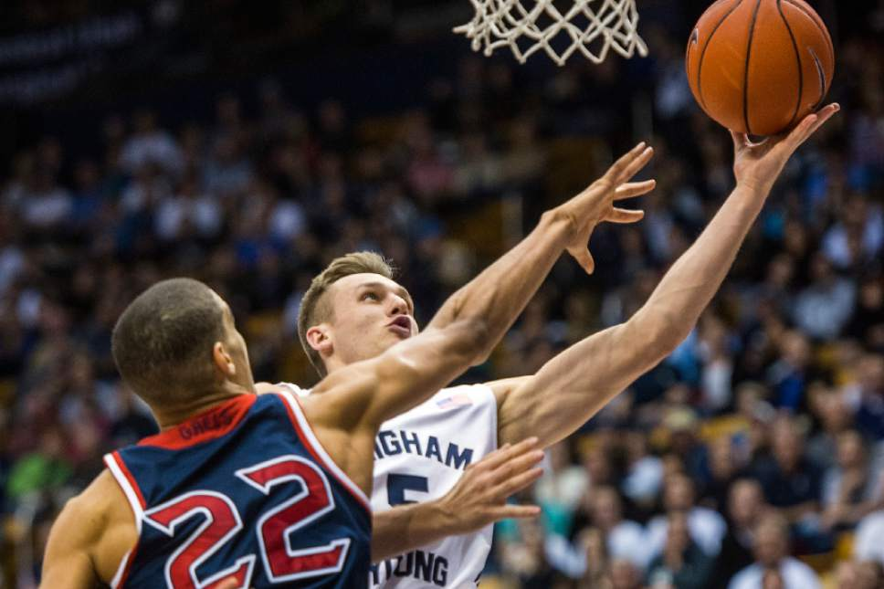 Veteran Kyle Collinsworth is a stalwart for BYU. (photo by Chris Detrick)