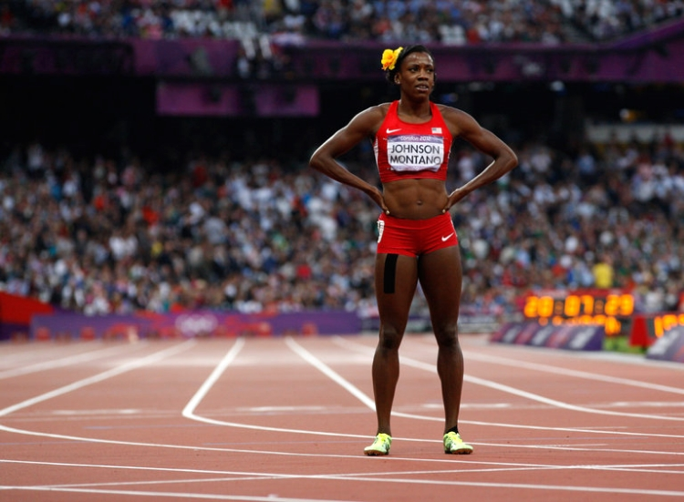 Montano at the 2012 London Olympics (photo by Josh Haner)
