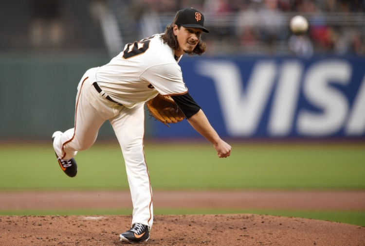 Shark Samardzija has been a workhorse for the Giants this season. (Photo by Thearon W. Henderson)