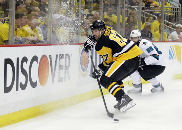 Sidney Crosby shined for Pittsburgh in Game 1 (photo by Bruce Bennett)