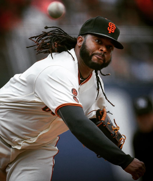 Johnny Cueto has been pumping the pearl at Pac Bell Park in impressive fashion so far this season. (photo by  Tony Avelar)