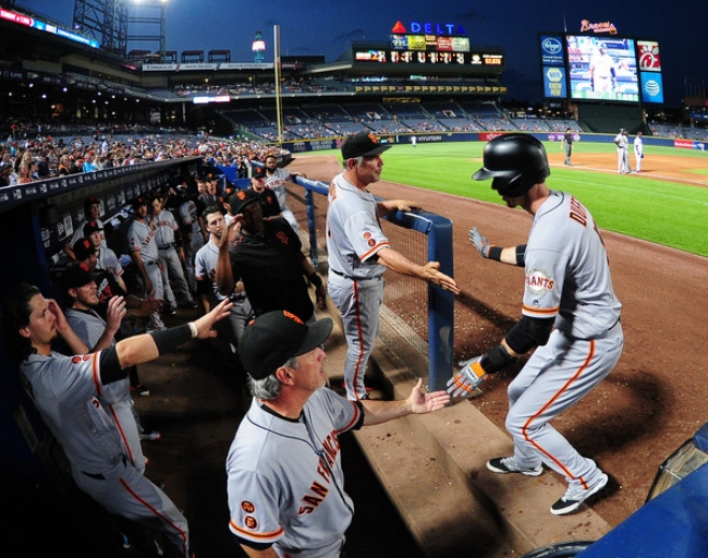 Matt Duffy will be sorely missed by Giants players and fans. (photo by Scott Cunningham  )