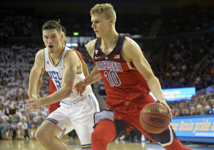 Arizona Freshman Lauri Markkanen of Arizona is a 7-footer who is also a threat from deep. (photo by Gary Vasquez)