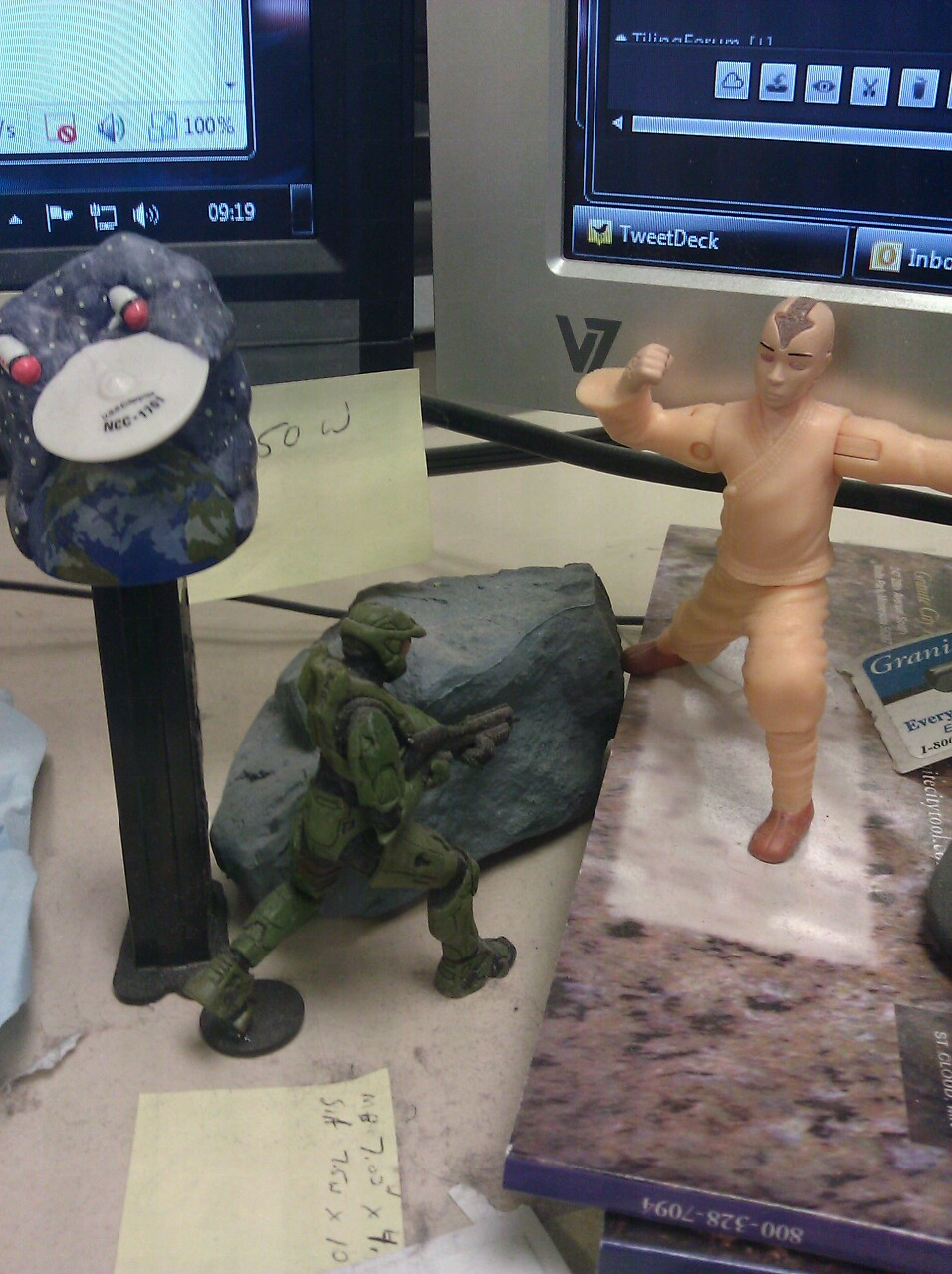 A few of my desk item's that keep me company.