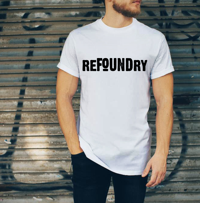 REFOUNDRY T-SHIRTS - SEWN in South Central LA in a fair wage environment that exceeds city wage laws, these super soft t-shirts were printed by Reconnect Graphics -- a not-for-profit in Bed-Stuy Brooklyn that provides employment and training opportunities for young, inner city Brooklynites.100% of the proceeds go to supporting our vision for a more equitable criminal justice system.