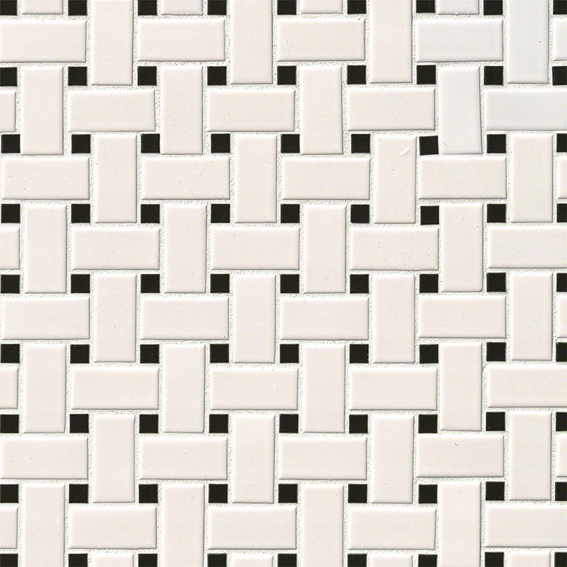 White & black basket weave