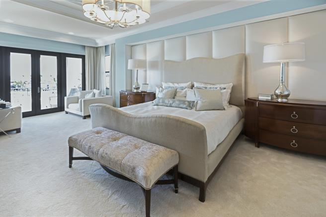 Master Bedroom White And Blue