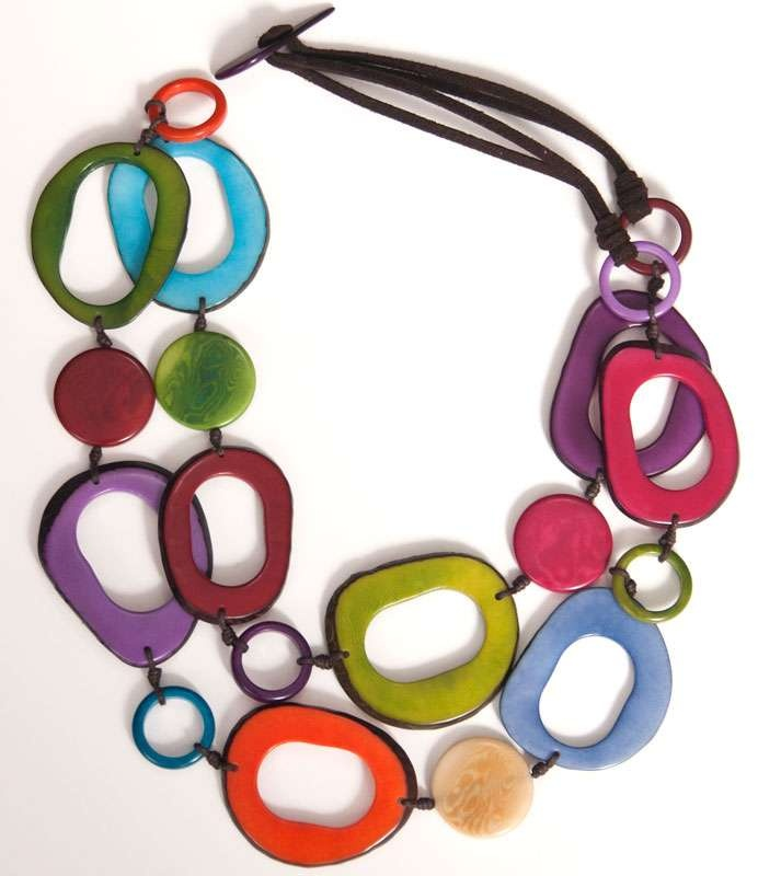 Encanto Jewels Tagua pieces are only available at Maertens during the Summer months