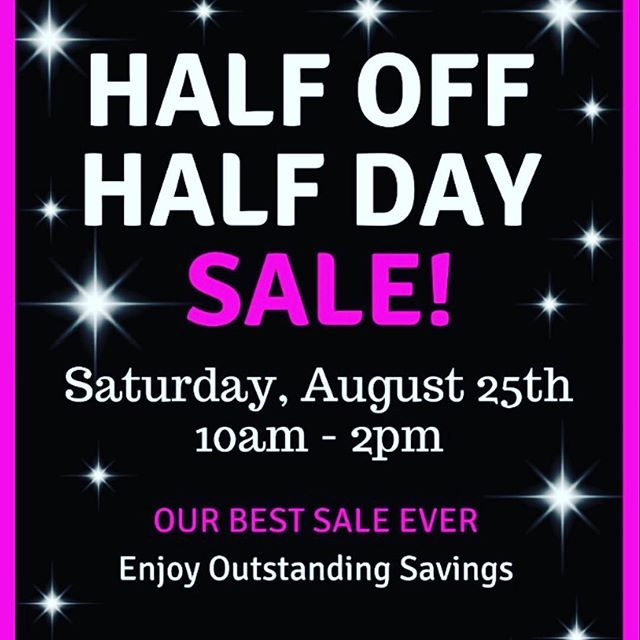 Have You Heard??? This Saturday Is Our Best Sale Ever!  Half Off, Half Day!  Sale Begins At 10am 🎊🎉🎈 Must Have Your Hand Stamped By 2PM To Receive Sale Prices.  Come Early And Avoid The Crowds! ⏰⏳ Call Store For Details *Some Exclusions Apply 410-394-3990 ☎️ See You Saturday! #BeHappyShopMaertens #BestSaleEver
