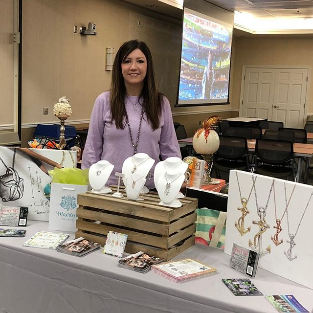 "Heather was honored to be a part of the Inaugural SBDC Women's Business Showcase on Wednesday.  She joined more than 45 women that shared stories about ""running your business courageously."" It was a wonderful day filled with great stories from familiar faces.  There were serious moments, lots of laughter and of course, a few tears as everyone shared the details of their journey.  Heather was excited to announce that her Penny James Jewelry Collection is now in 32 stores along the East coast 😊 As always, we are so happy to be a part of this community.  Thanks to all that support us ❤️ It means so much!  #BeHappyShopMaertens #WearPenny #GirlBoss #Community #MakeWaves #SOMD"
