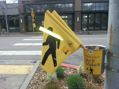 Street crossing flags (fb post)