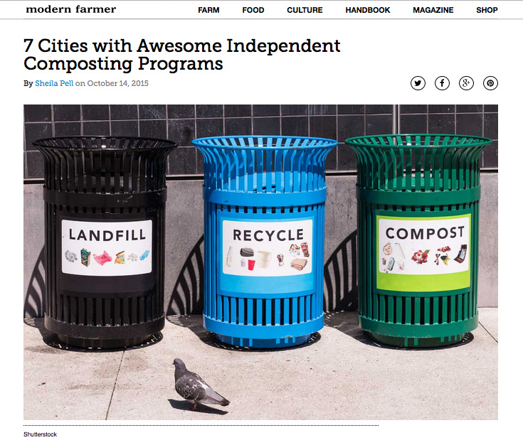 Shutterstock image, Modern Farmer http://modernfarmer.com/2015/10/american-cities-with-composting-programs/, Sheila Pell article