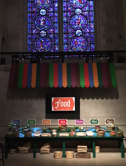 Food Altar at St John the Divine, New York, NY.