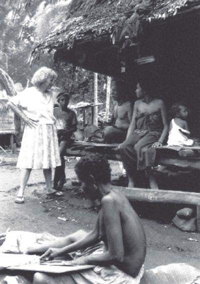 Dr. Annette Weiner,Kwaibwaga Village, Trobriand Islands, 1989