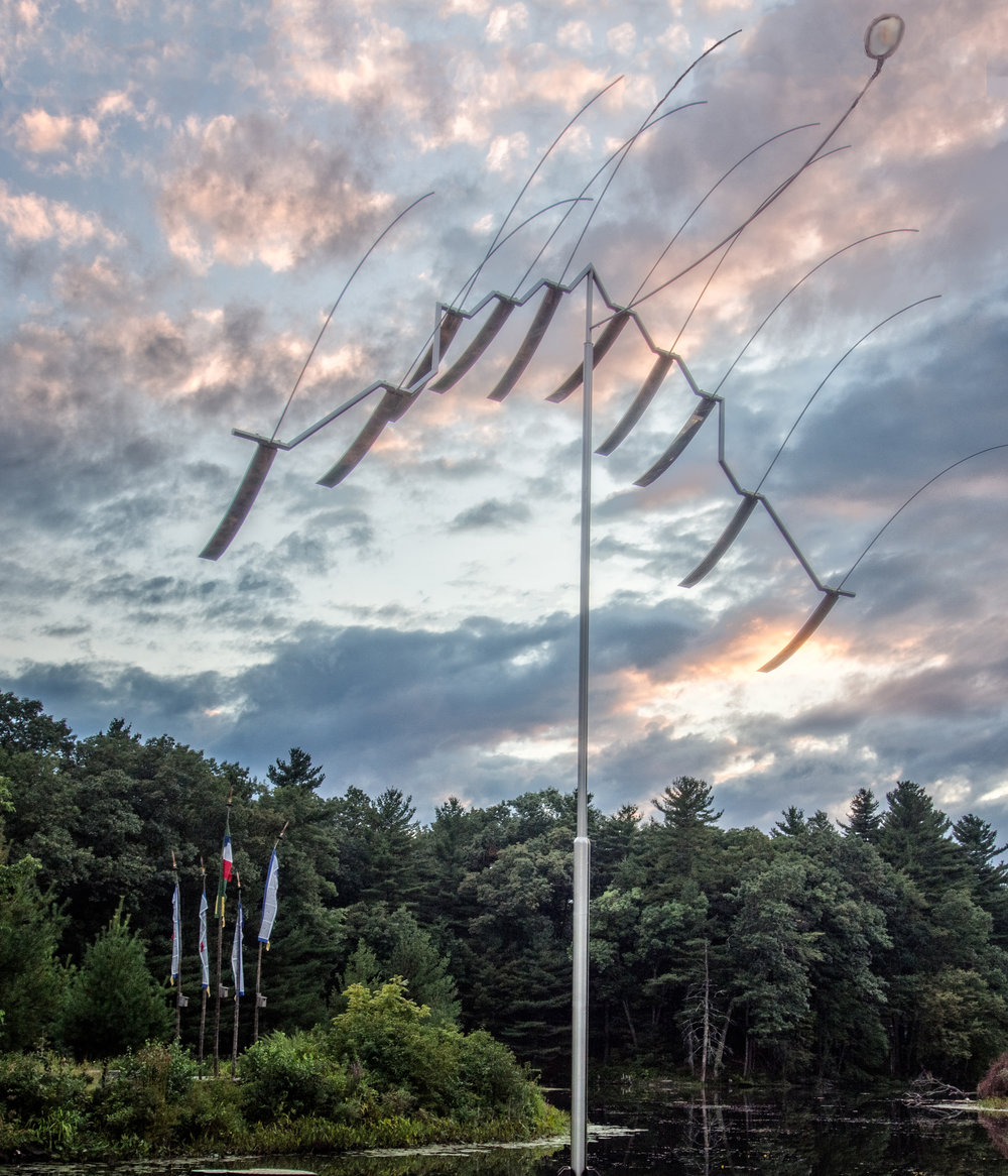 Wind Sculpture, Michio Ihara     photo:Robert Hesse at Old Frog Pond Farm & Studio