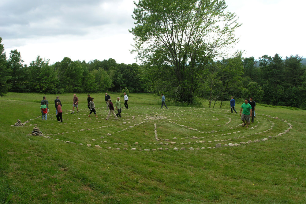 Walking the Labyrinth at Fruitlands Museum, Harvard, MA in 2005