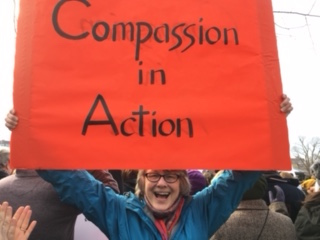 Judith Taisei Schutzman at the Boston March
