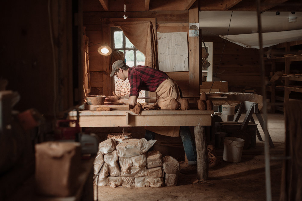 John Vigeland in the Pottery